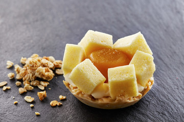 Exotic fruits individual tart