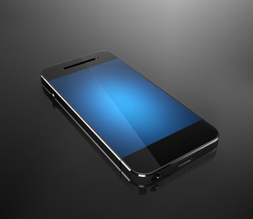 Custom smart phones with blue screen