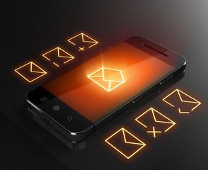 Smart phone message concept