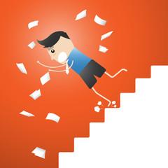 Developmental A leap,  up the ladder Leap cartoon vector illustr
