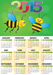2015 bee calendar