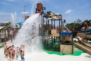 Laberint Pitara water attraction at Illa Fantasia waterpark