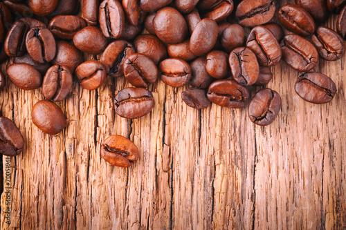 canvas print picture Kaffee Hintergrund - Kaffeebohnen - Fair Trade