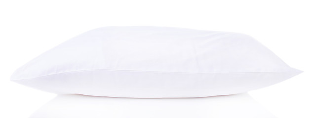 White pillow isolated on white