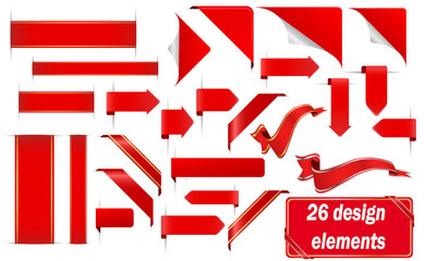 26 red design elements