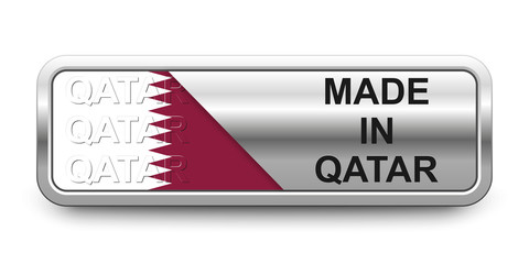 Made in Qatar Button