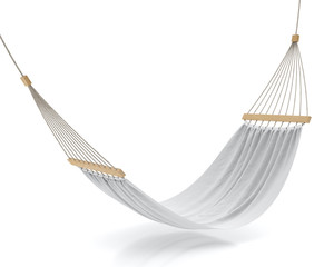 blank white hammock isolated on white background