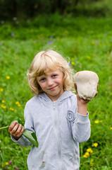 girl with  mushroom
