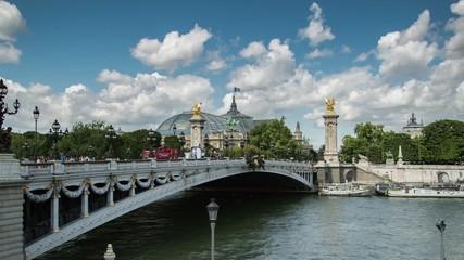 Grand Palais, Paris, seine ,timelapse