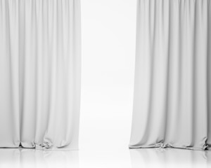white stage curtain, background