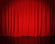 red stage curtain, background