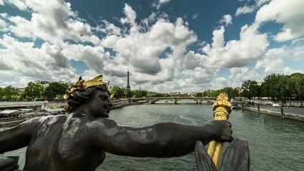 Grand Palais, Paris, sculpture, seine ,timelapse