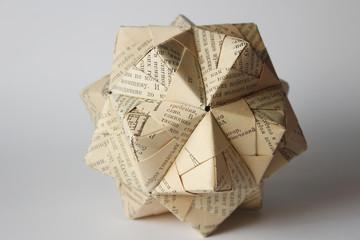 Cyrillic origami ball