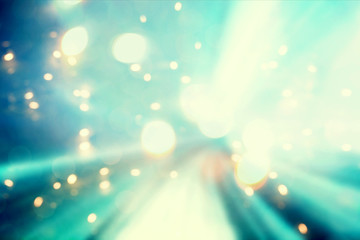 Blue abstract shiny light futuristic pathway