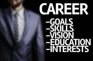 Career description written on a board