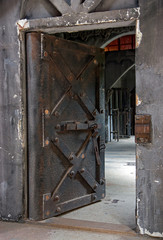 open door of the historic jail