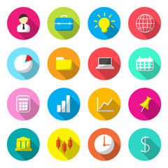 Business Colorful icons vector.