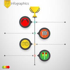 Business competition idea infographic modern design. Vector illu