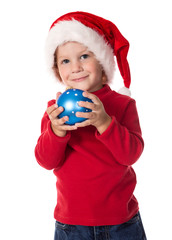 Little boy with christmas decoration