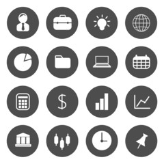 Business icons vector.
