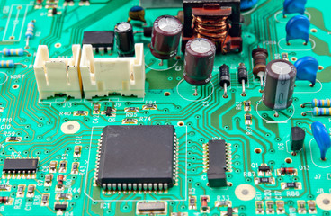 green electrical circuit