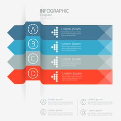 Modern business diagram Infographics. Vector illustration.
