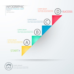 Modern business staircase chart diagram Infographics. Vector ill