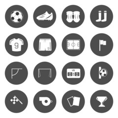 Soccer Icons Vector.