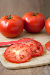 Sliced and Fresh Tomatoes