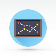 Flat style with long shadows, blackboard vector icon