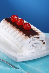 tronchetto gelato panna e cioccolato