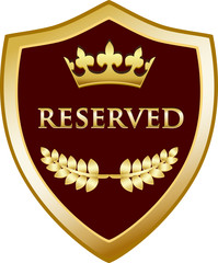 Reserved Gold Shield