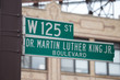 Martin Luther King Jr. blvd street sign in Harlem NYC - 70058780