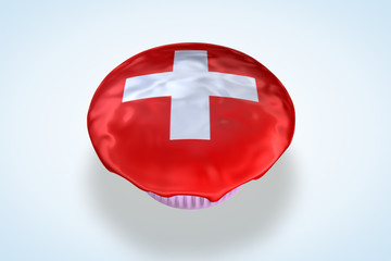 Switzerland Swiss Flag Cupcake