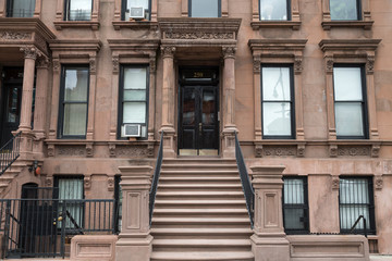 Harlem New York brownstone buildings