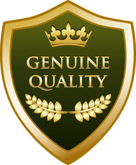 Genuine Quality Gold Shield