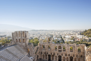 Odeon of Herodes Atticus in Acropolis of Athens