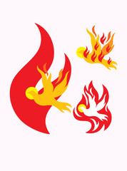 Holy spirit of fire, art vector design