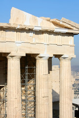 Reconstruction work on Temple of Athena Nike