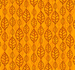Retro autumn leaves backgrounds