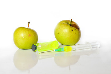 fruit with chemistry apples