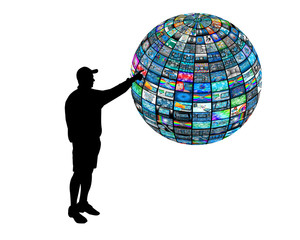 3D sphere and silhouette