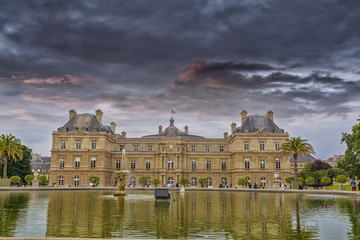 Palais du Luxembourg in Luxemburg garden, Paris.