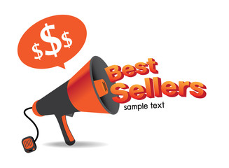 Sign Best Sellers vector