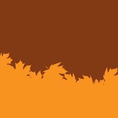 Leaf silhouette border