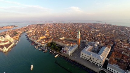 aerial view of venice, st mark's square.