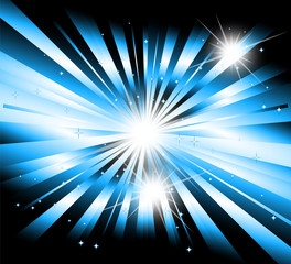 Vector star, ray with lens flare