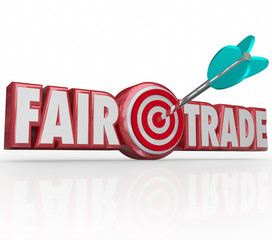 Fair Trade Words 3d Letters Arrow Target Bulls Eye