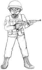 A simple sketch of a soldier