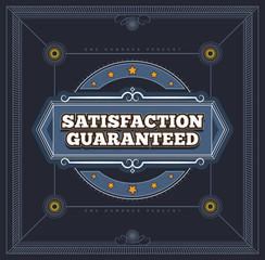 Satisfaction Guaranteed label. EPS8.